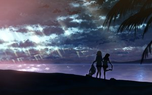 Rating: Safe Score: 178 Tags: beach clouds night original scenic sky tagme water yuuki_tatsuya User: luckyluna