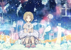 Rating: Safe Score: 23 Tags: blonde_hair drink loli lolita_fashion red_eyes scan short_hair takano_otohiko User: RyuZU