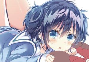 Rating: Safe Score: 57 Tags: aqua_eyes blue_hair blush close happy_sugar_life koube_shio loli seifuku shiiba_nae short_hair twintails waifu2x User: otaku_emmy
