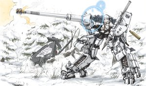 Rating: Safe Score: 92 Tags: headphones mecha ogitsune_(ankakecya-han) pantyhose snow strike_witches tagme_(character) underwear weapon User: opai
