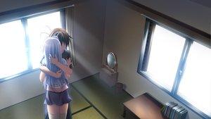 Rating: Safe Score: 26 Tags: game_cg ikura_nagisa long_hair mashiro_summer thighhighs white_hair yasaka_chihiru User: Wiresetc