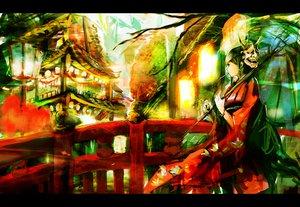 Rating: Safe Score: 78 Tags: hinomoto_oniko japanese_clothes kimono mask so-bin User: opai