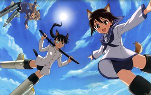 Rating: Safe Score: 14 Tags: miyafuji_yoshika perrine-h_clostermann sakamoto_mio strike_witches User: meccrain