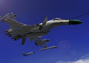 Rating: Safe Score: 26 Tags: aircraft combat_vehicle macross macross_zero military mizuki_ame sky User: RyuZU