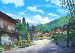 Rating: Safe Score: 82 Tags: building clouds grass niko_p nobody original rainbow scenic sky User: RyuZU