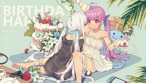 Rating: Safe Score: 149 Tags: 2girls barefoot cake flowers food hololive kagura_mea kagura_mea_channel minato_aqua panties pokemon rose timeo underwear watermark wooper User: FormX
