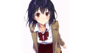Rating: Safe Score: 48 Tags: black_hair blush bow close original red_eyes rimo school_uniform short_hair skirt white User: otaku_emmy