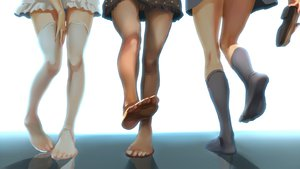 Rating: Questionable Score: 208 Tags: pantyhose skirt smoke_(flyx21) stockings tagme thighhighs upskirt User: opai