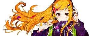 Rating: Safe Score: 91 Tags: braids brown_eyes close headphones long_hair mika_pikazo orange_hair original wristwear User: otaku_emmy