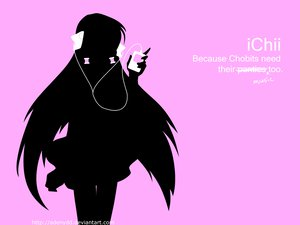 Rating: Safe Score: 27 Tags: chii chobits elda ipod parody pink silhouette User: Oyashiro-sama