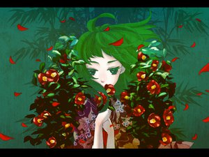 Rating: Safe Score: 40 Tags: flowers gabaisuito-n green green_eyes green_hair gumi japanese_clothes short_hair vocaloid User: Katsumi