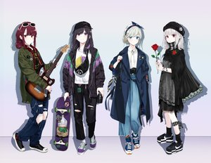 Rating: Safe Score: 68 Tags: aliasing black_hair blue_eyes brown_eyes camera chobe_2 choker drink flowers gothic gray_hair group guitar hat headband instrument original purple_eyes red_eyes red_hair rose short_hair socks sunglasses torn_clothes white_hair wristwear User: Dreista