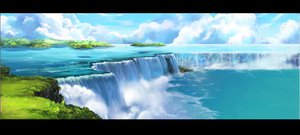 Rating: Safe Score: 168 Tags: clouds landscape mugon nobody scenic sky tree water waterfall User: opai