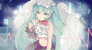 Rating: Safe Score: 142 Tags: aqua_eyes aqua_hair hatsune_miku nisoku_hokou_(vocaloid) project_diva twintails vocaloid wings xiaohan6th User: FormX