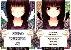 Rating: Safe Score: 107 Tags: brown_eyes brown_hair dress original sayori scan watermark wings User: Katsumi