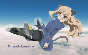 Rating: Safe Score: 21 Tags: animal_ears blonde_hair clouds glasses long_hair perrine-h_clostermann sky strike_witches tail yellow_eyes User: HawthorneKitty