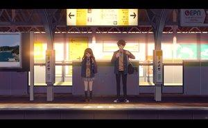 Rating: Safe Score: 29 Tags: brown_eyes brown_hair kim_bae-eo kneehighs long_hair male original scenic skirt tie train User: RyuZU