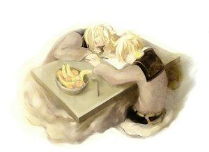 Rating: Safe Score: 22 Tags: food fruit kagamine_len kagamine_rin kotatsu male orange_(fruit) shell_(artist) vocaloid User: HawthorneKitty