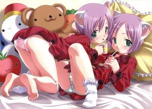 Rating: Questionable Score: 151 Tags: animal_ears barefoot kuuchuu_yousai loli panties sakura_mitsuki sakura_mutsuki striped_panties sweet_legacy underwear User: YagamiShinji