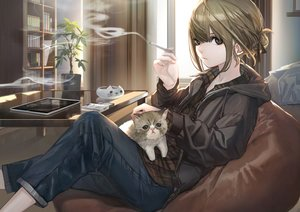 Rating: Safe Score: 83 Tags: animal cat hashimoto_kokai original smoking tagme User: Dreista