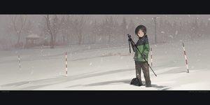 Rating: Safe Score: 80 Tags: astg black_hair kurosaki_honoka short_hair snow tree winter yama_no_susume User: Flandre93
