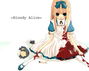 Rating: Questionable Score: 55 Tags: alice_(wonderland) alice_in_wonderland blood User: HawthorneKitty