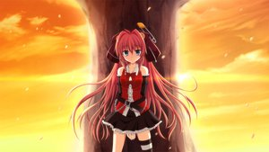 Rating: Safe Score: 153 Tags: fortissimo//akkord:bsusvier game_cg long_hair ooba_kagerou red_hair satomura_momiji sunset User: Wiresetc