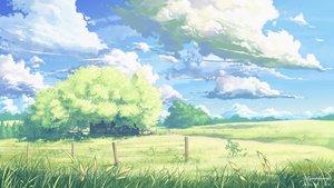 Rating: Safe Score: 133 Tags: clouds grass landscape nobody original scenic sky tree yuuko-san User: Flandre93