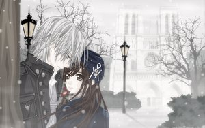 Rating: Safe Score: 29 Tags: building flowers kiryu_zero snow tree vampire_knight yuuki_cross User: Destroying
