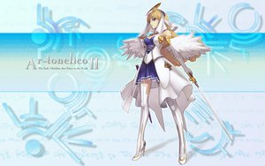 Rating: Safe Score: 24 Tags: ar_tonelico ar_tonelico_ii cloche_leythal_pastalia nagi_ryou sword thighhighs weapon User: 秀悟
