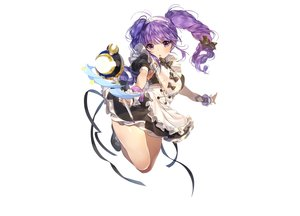 Rating: Safe Score: 82 Tags: aisha_(elsword) dress elsword long_hair maid photoshop purple_eyes purple_hair ribbons sukja twintails wand white User: luckyluna
