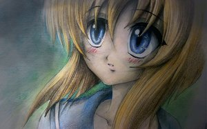 Rating: Safe Score: 53 Tags: blue_eyes higurashi_no_naku_koro_ni orange_hair ryuuguu_rena short_hair sketch User: Korobeinik