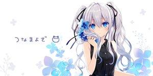 Rating: Safe Score: 79 Tags: aqua_eyes flowers gray_hair long_hair original ribbons tsunako twintails User: Nepcoheart