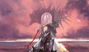 Rating: Safe Score: 180 Tags: armor cape lin+ long_hair original pink_hair pixiv_fantasia signed User: opai