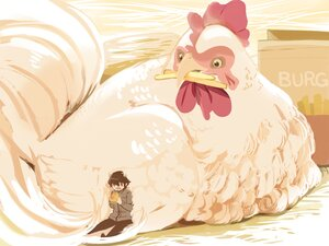 Rating: Safe Score: 25 Tags: all_male animal bird black_eyes black_hair chai_(artist) food male original polychromatic short_hair User: otaku_emmy