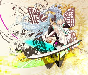 Rating: Safe Score: 11 Tags: hatsune_miku miku_append twintails vocaloid User: mikulover
