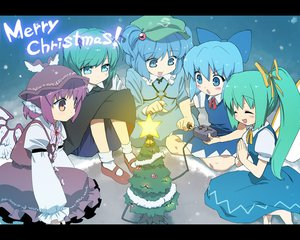 Rating: Safe Score: 22 Tags: animal_ears blue_eyes blue_hair christmas cirno daiyousei dress green_hair group hat kawashiro_nitori long_hair mystia_lorelei purple_eyes short_hair touhou wings wriggle_nightbug User: w7382001