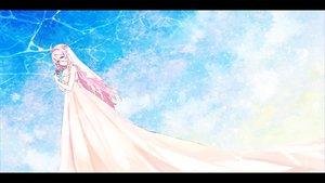 Rating: Safe Score: 68 Tags: blue_eyes ia pink_hair vocaloid wedding_attire zombie_neko User: FormX