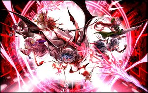 Rating: Safe Score: 87 Tags: flandre_scarlet hong_meiling izayoi_sakuya koakuma kozou patchouli_knowledge remilia_scarlet touhou wings User: FormX