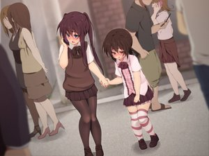 Rating: Safe Score: 80 Tags: blush game_cg hinamizawa_(hina-sawa) male pantyhose school_uniform skirt trap twintails User: gnarf1975