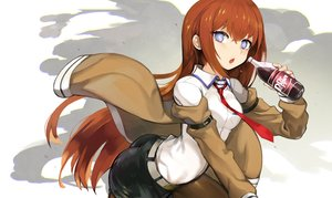 Rating: Safe Score: 65 Tags: ass blue_eyes brown_hair drink jehyun long_hair makise_kurisu pantyhose shorts steins;gate tie User: RyuZU