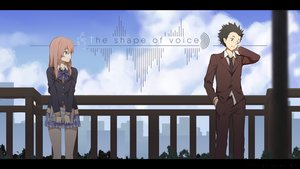 Rating: Safe Score: 23 Tags: black_eyes black_hair book brown_eyes brown_hair building city clouds ishida_shouya koe_no_katachi long_hair male nishimiya_shouko seifuku shuang_ye silhouette skirt sky User: RyuZU
