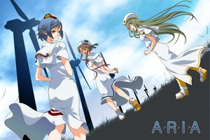 Rating: Safe Score: 9 Tags: aika_s_granzchesta alice_carroll aria mizunashi_akari sky windmill User: HawthorneKitty