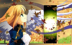 Rating: Safe Score: 51 Tags: artoria_pendragon_(all) autumn blonde_hair fate_(series) fate/stay_night green_eyes leaves long_hair saber wings User: Oyashiro-sama