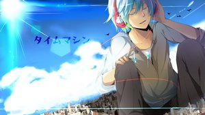 Rating: Safe Score: 33 Tags: hatsune_mikuo headphones male nekoame vocaloid User: FormX
