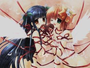 Rating: Safe Score: 20 Tags: 2girls ribbons sakurazawa_izumi valentine wings User: 秀悟