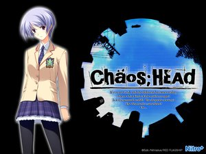 Rating: Safe Score: 15 Tags: blue_hair chaos;head kishimoto_ayase pantyhose seifuku short_hair skirt User: Tensa