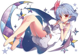 Rating: Safe Score: 27 Tags: barefoot blush dress gray_hair red_eyes remilia_scarlet short_hair tagme_(artist) touhou vampire wings User: BattlequeenYume