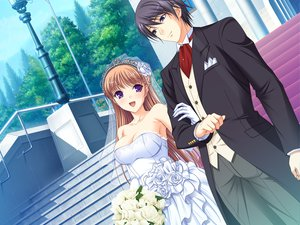 Rating: Safe Score: 73 Tags: game_cg komori_kei male mizuno_takahiro noel_marres_ascot ricotta walkure_romanze wedding wedding_attire User: Maboroshi