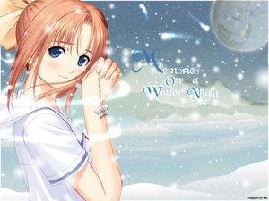 Rating: Safe Score: 27 Tags: after after_sweet_kiss blue_eyes shiomiya_kanami snow taka_tony winter User: Oyashiro-sama